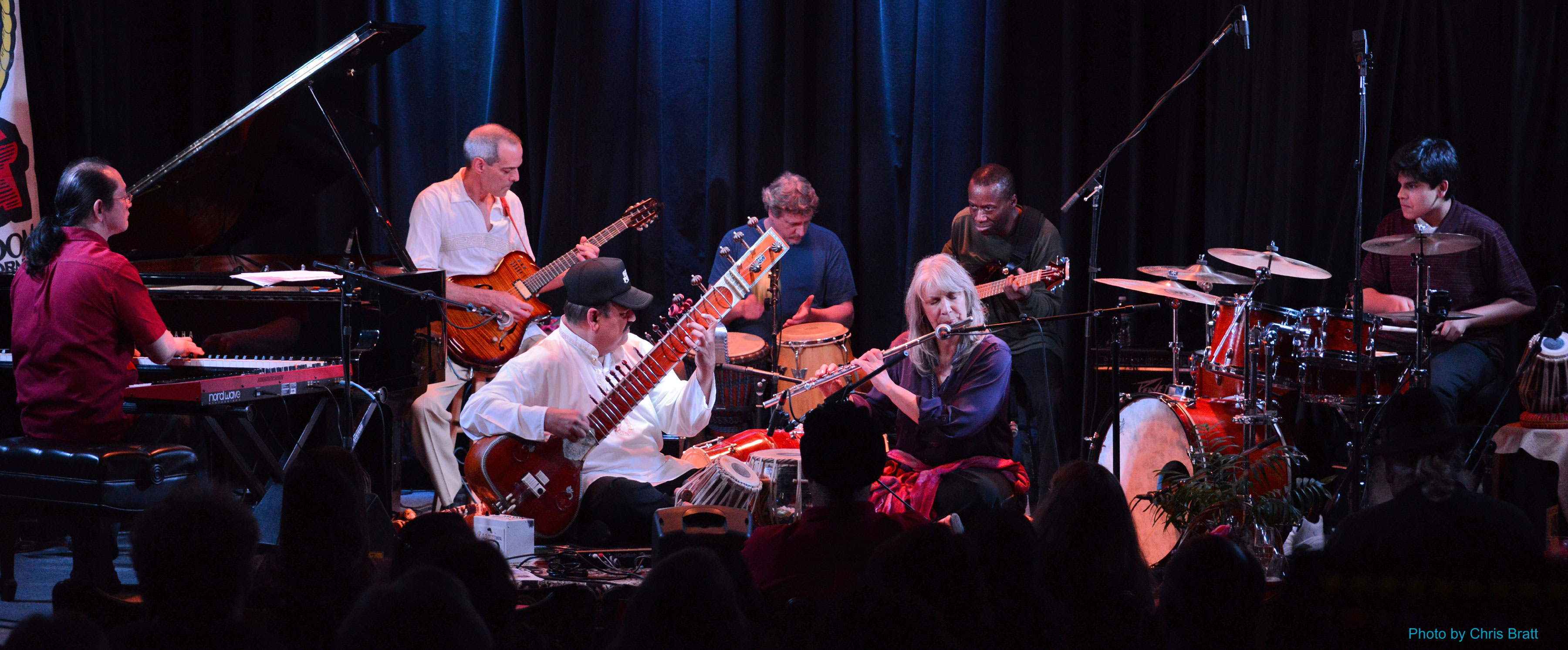 Sitar Power live at the Kuumbwa Jazz Center, Santa Cruz. All rights reserved. �12 Ashwin Batish. Copyrighted image. Photographer Chris Bratt